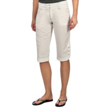 Aventura Clothing Applegate Capris - Organic Cotton Twill (For Women) in White - Closeouts