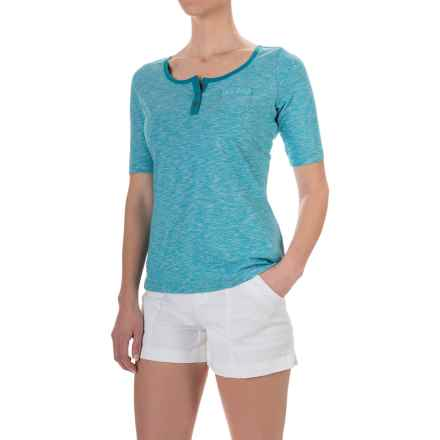 Aventura Clothing Artisan Shirt - Organic Cotton, Short Sleeve (For Women) in Mosaic Blue - Closeouts