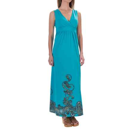 Aventura Clothing Ashby Maxi Dress - Sleeveless (For Women) in Peacock Blue - Closeouts
