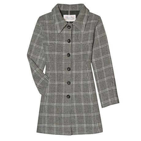 Aventura Clothing Ava Plaid Coat - Wool Blend (For Women) in Charcoal Plaid