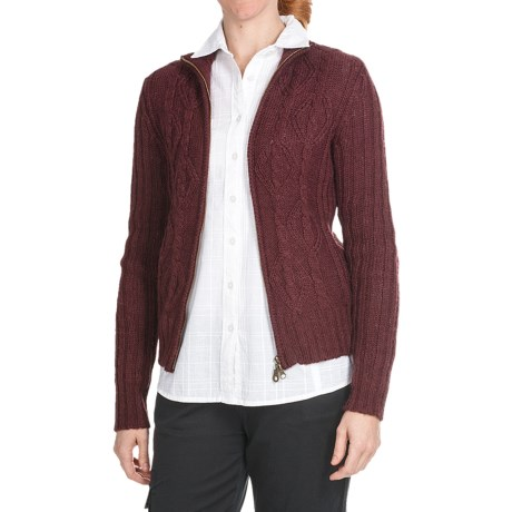 Aventura Clothing Avalon Cardigan Sweater - Full Zip (For Women) in Red Mahogany