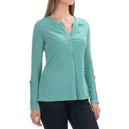 Aventura Clothing Avila Shirt - Organic Cotton, Long Sleeve (For Women) in Aqua Sea - Closeouts