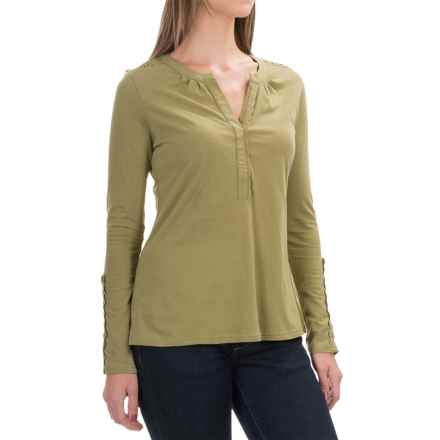 Aventura Clothing Avila Shirt - Organic Cotton, Long Sleeve (For Women) in Mosstone - Closeouts