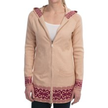 Aventura Clothing Berlin Sweater - Organic Cotton-Cashmere-Angora, Full Zip (For Women) in Pebble - Closeouts