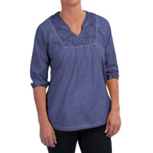 Aventura Clothing Bessie Shirt - Organic Cotton, 3/4 Sleeve (For Women) in Velvet Morning - Closeouts