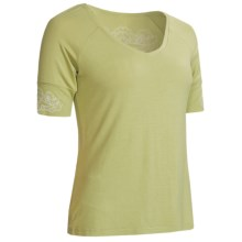 Aventura Clothing Bettina T-Shirt - Elbow Sleeve (For Women) in Sweet Pea - Closeouts