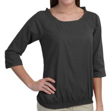 Aventura Clothing Bevin Peasant Top - Organic Cotton, 3/4 Sleeve (For Women) in Black - Closeouts
