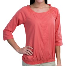 Aventura Clothing Bevin Peasant Top - Organic Cotton, 3/4 Sleeve (For Women) in Spiced Coral - Closeouts