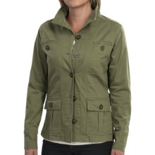 Aventura Clothing Briarwood Jacket - Stretch Organic Cotton (For Women) in Calliste Green - Closeouts