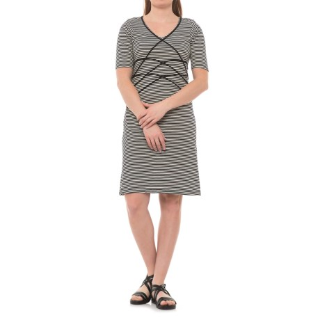 Aventura Clothing Brielyn Striped Dress - Organic Cotton, Short Sleeve (For Women) in Black