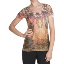 Aventura Clothing Burnout T-Shirt - Crew Neck, Short Sleeve (For Women) in Dusted Mahogany - Closeouts