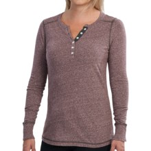 Aventura Clothing Callianne Henley Shirt - Long Sleeve (For Women) in Potent Purple - Closeouts