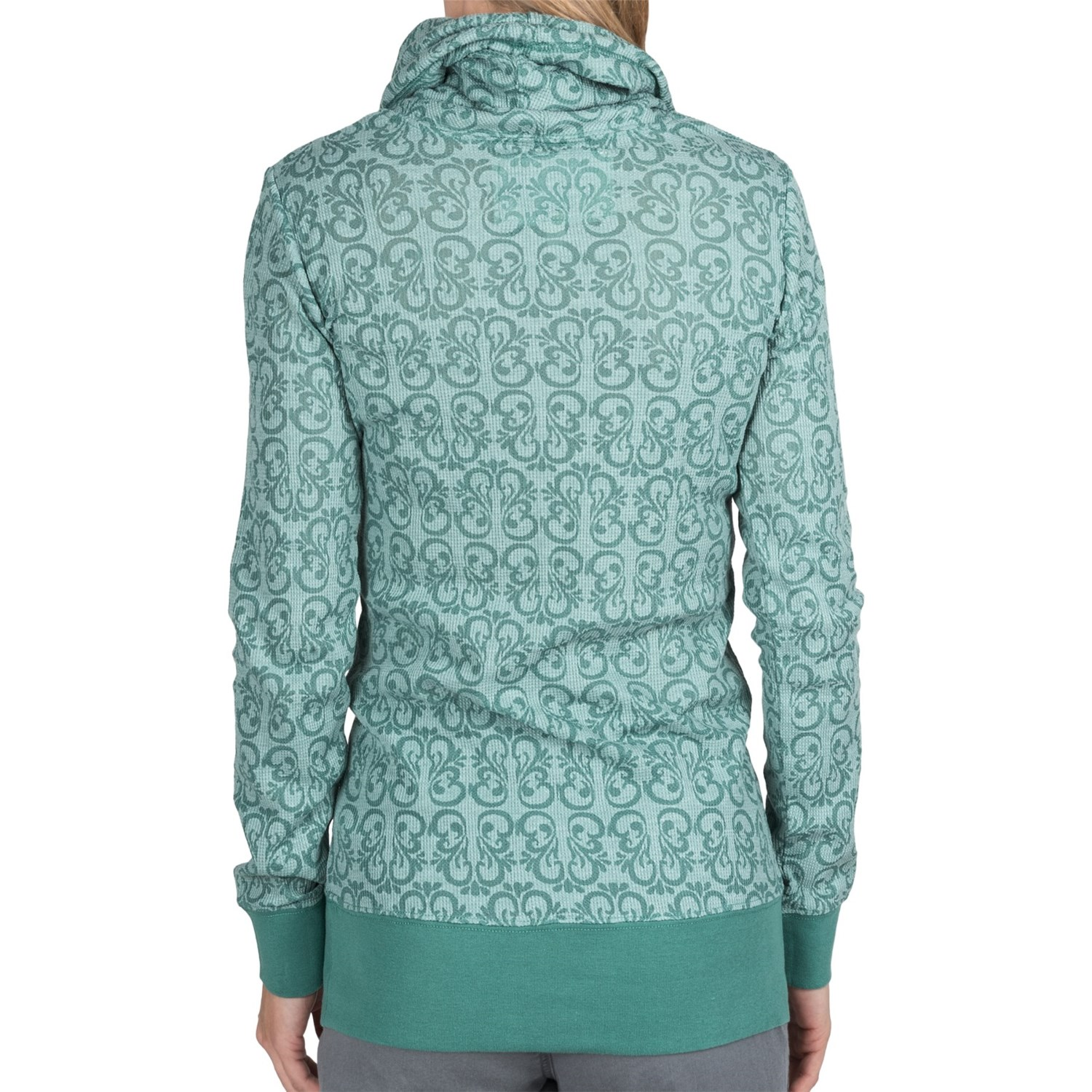 aventura clothing camille burnout thermal hoodie for
