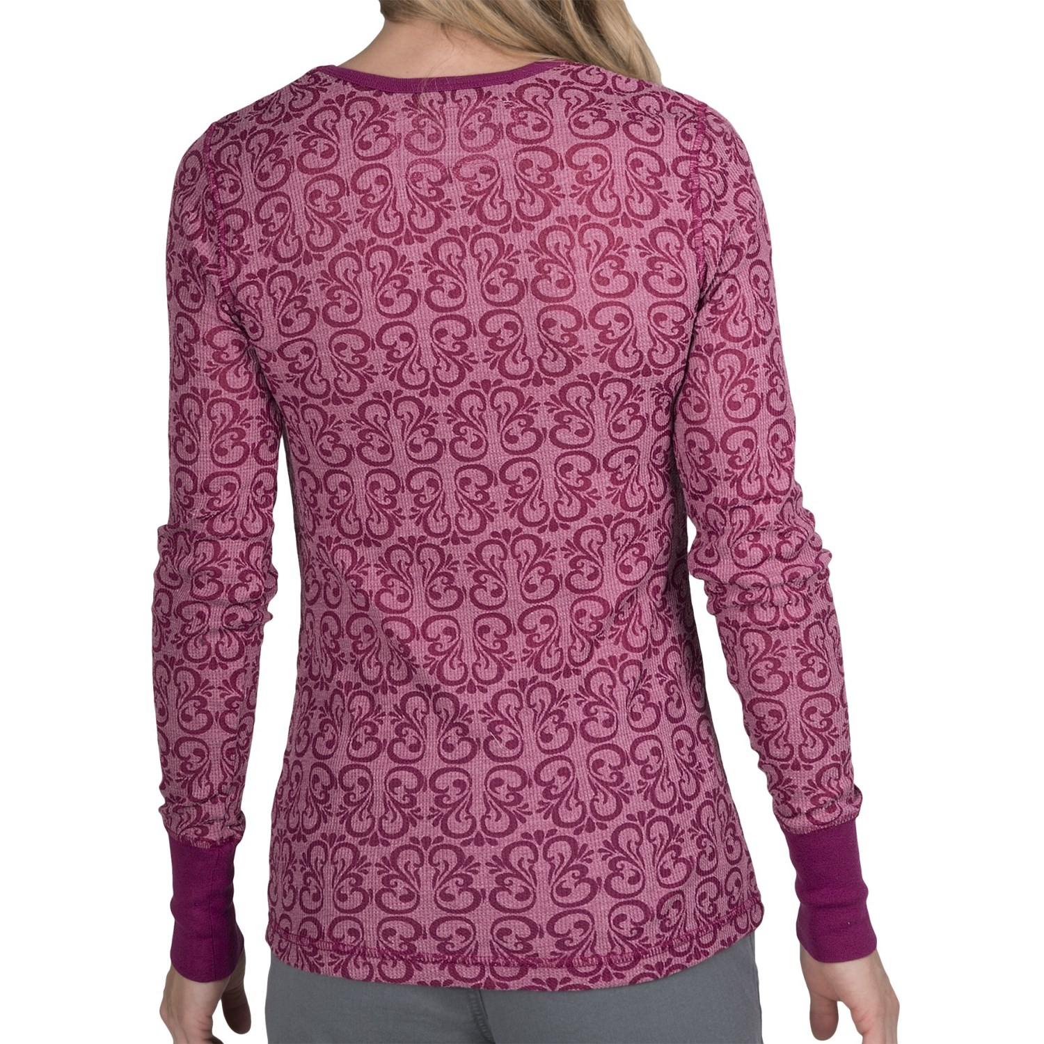 aventura clothing camille burnout thermal shirt for