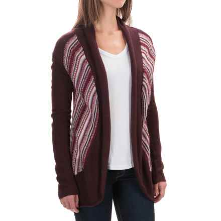 Aventura Clothing Caserta Sweater - Open Front (For Women) in Winetasting - Closeouts