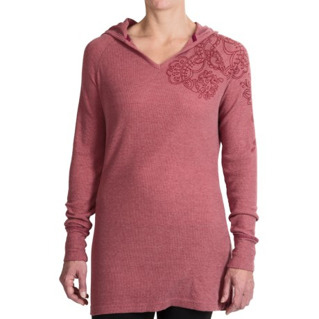 Aventura Clothing Cassidy Thermal Hoodie - V-Neck (For Women) in Plumgood