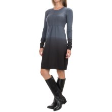 Aventura Clothing Cassie Dip-Dye Knit Dress - Organic Cotton, Long Sleeve (For Women) in Grisaille - Closeouts