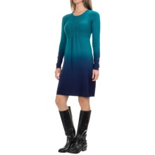 Aventura Clothing Cassie Dip-Dye Knit Dress - Organic Cotton, Long Sleeve (For Women) in Ocean Depths - Closeouts