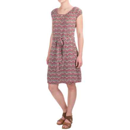 Aventura Clothing Castella Dress - Organic Cotton-Modal, Short Sleeve (For Women) in Deco Rose - Closeouts