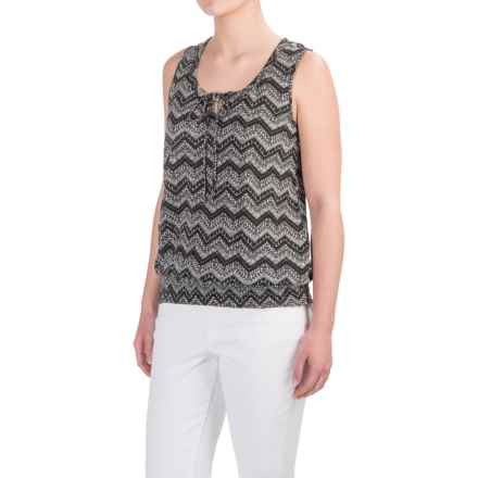 Aventura Clothing Castella Patterned Tank Top - Organic Cotton-Modal (For Women) in Black - Closeouts