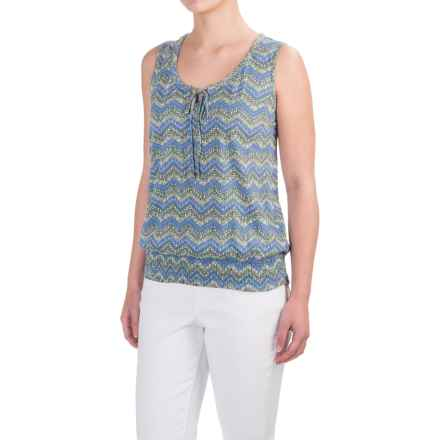 Aventura Clothing Castella Patterned Tank Top - Organic Cotton-Modal (For Women) in Blue Yonder - Closeouts