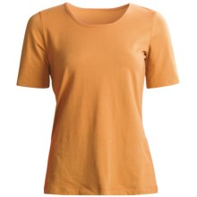 Aventura Clothing Castella T-Shirt - Stretch Organic Cotton Jersey (For Women) in Golden Orange - Closeouts