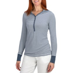 Aventura Clothing Charlie Hooded Henley Shirt - Long Sleeve (For Women) in Earl Grey