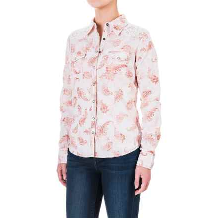 Aventura Clothing Charlotte Shirt - Snap Front, Long Sleeve (For Women) in Chipotle - Closeouts