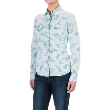 Aventura Clothing Charlotte Shirt - Snap Front, Long Sleeve (For Women) in Mosaic Blue - Closeouts