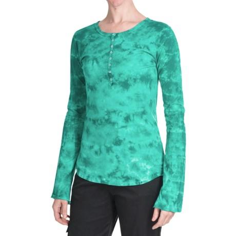 Aventura Clothing Chloe Henley Shirt - Cotton, Long Sleeve (For Women) in Teal