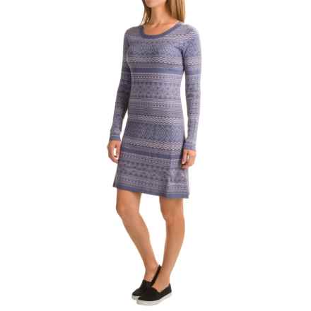 Aventura Clothing Clara Dress - Viscose, Long Sleeve (For Women) in Blue Indigo - Closeouts