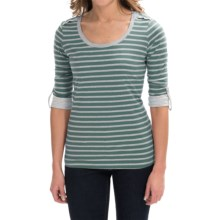 Aventura Clothing Cora Shirt - Organic Cotton, 3/4 Sleeve (For Women) in North Sea - Closeouts