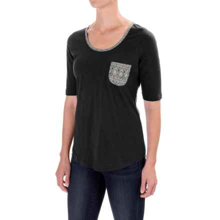 Aventura Clothing Delaney T-Shirt - Elbow Sleeve (For Women) in Black - Closeouts