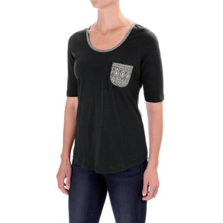 Aventura Clothing Delaney T-Shirt - Elbow Sleeve (For Women) in Black