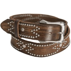 Aventura Clothing Distressed Rivet Belt - Leather (For Women) in Brown