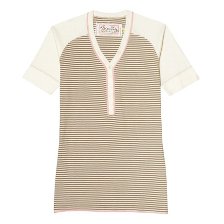 Aventura Clothing Dylan Henley Shirt - Organic Cotton, Short Sleeve (For Women) in Taupe