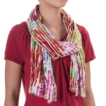 Aventura Clothing Emery Watercolor Floral Scarf - Viscose (For Women) in Multi - Closeouts
