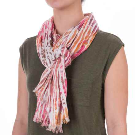 Aventura Clothing Emery Watercolor Floral Scarf - Viscose (For Women) in Pink - Closeouts