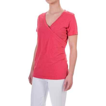 Aventura Clothing Erin Shirt - Short Sleeve (For Women) in Raspberry Wine - Closeouts