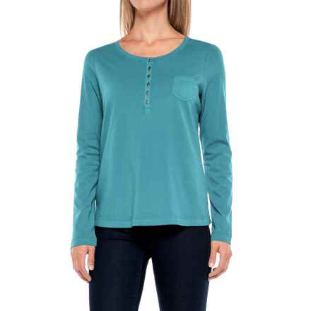 Aventura Clothing Evelyn Henley Shirt - Long Sleeve (For Women) in Biscay Bay - Closeouts