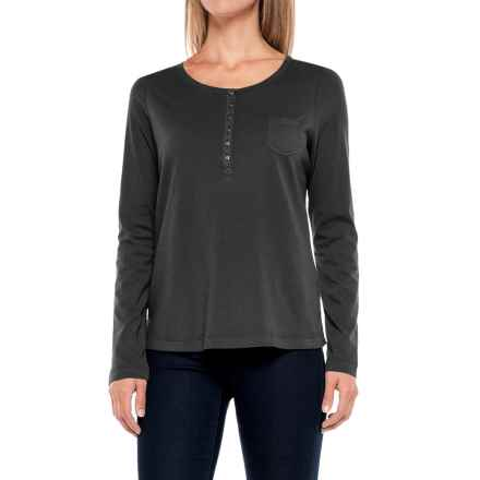 Aventura Clothing Evelyn Henley Shirt - Long Sleeve (For Women) in Black - Closeouts