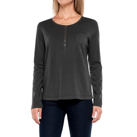 Aventura Clothing Evelyn Henley Shirt - Long Sleeve (For Women) in Black