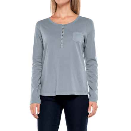 Aventura Clothing Evelyn Henley Shirt - Long Sleeve (For Women) in Citadel - Closeouts