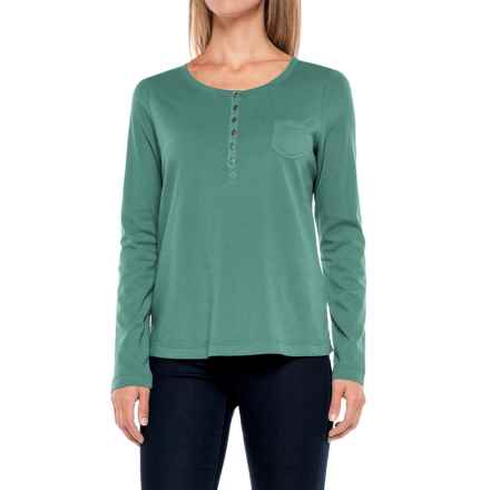 Aventura Clothing Evelyn Henley Shirt - Long Sleeve (For Women) in Tidepool - Closeouts