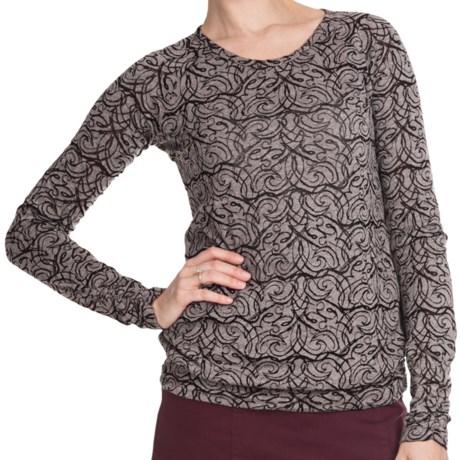 Aventura Clothing Fallon Burnout Shirt - Long Sleeve (For Women) in Black