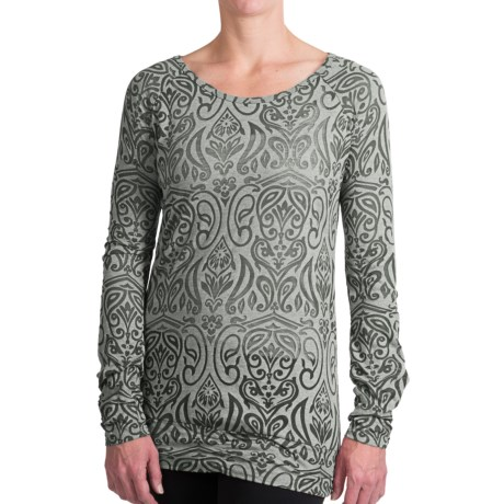 Aventura Clothing Fallon Burnout Shirt - Long Sleeve (For Women) in Dusty Olive