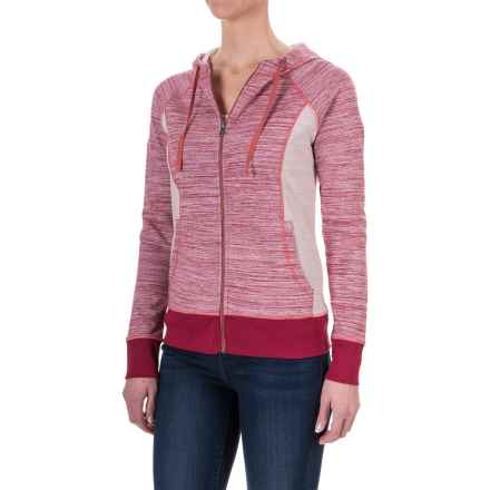 Aventura Clothing Finley Space-Dyed Hoodie - Full Zip (For Women) in Deep Claret - Closeouts