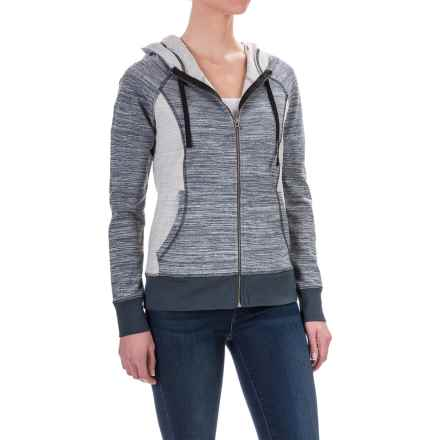 Aventura Clothing Finley Space-Dyed Hoodie - Full Zip (For Women) in Phantom - Closeouts