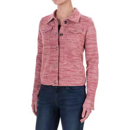Aventura Clothing Finley Space-Dyed Jacket (For Women) in Deep Claret - Closeouts
