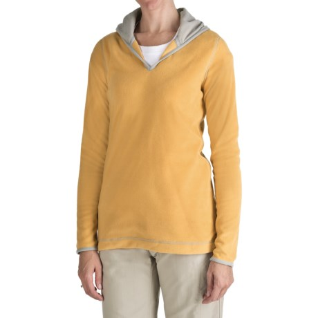 Aventura Clothing Fleece Hoodie Sweatshirt (For Women) in Buttercup